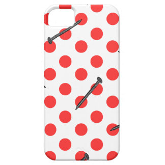 nail pattern with dots iPhone SE/5/5s case