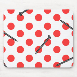 nail pattern with dots mouse pad