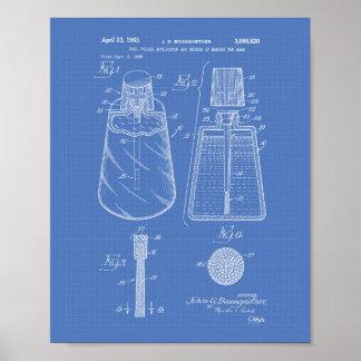 Nail Polish Applicator 1963 Patent Art Blueprint Poster
