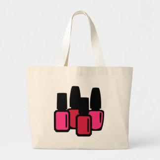 Nail polish beauty large tote bag