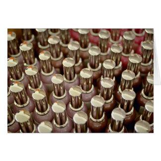 Nail polish bottles greeting card
