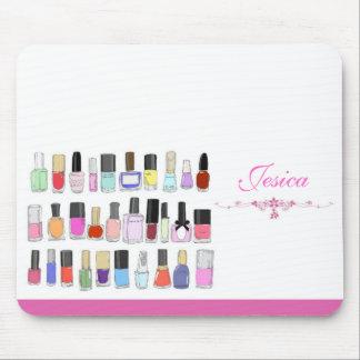 Nail polish bottles mousepad