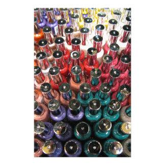 Nail Polish Bottles Stationery