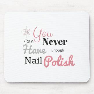 Nail polish lover mouse pad
