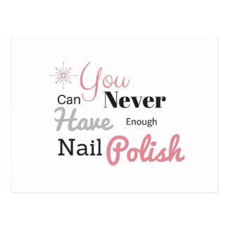 Nail polish lover postcard