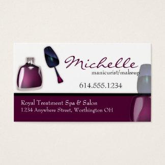 Nail Polish Manicurist Makeup Business Cards
