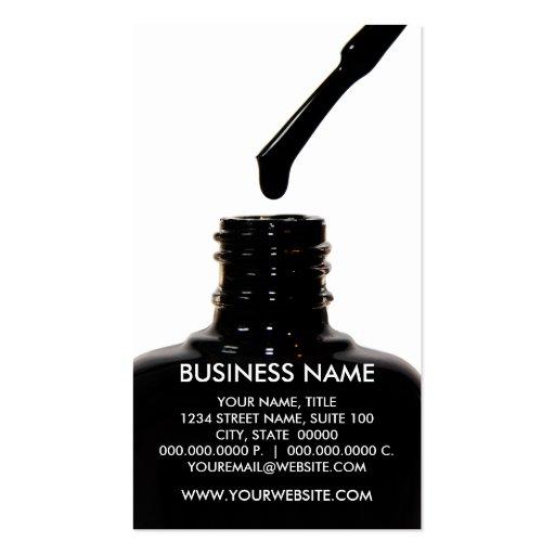 Nail Polish Transparent BG Business Cards