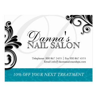 Nail Salon and Spa Advertising Postcard
