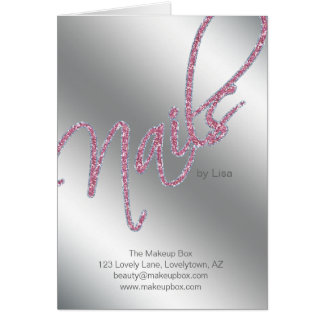 Nail Salon Brochure Beauty Greeting Card