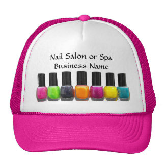 Nail Salon Business, Bright Polish Bottles Trucker Hat