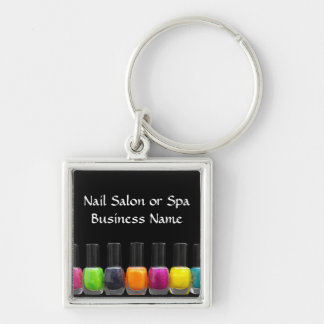 Nail Salon Business, Bright Polish Bottles Keychain