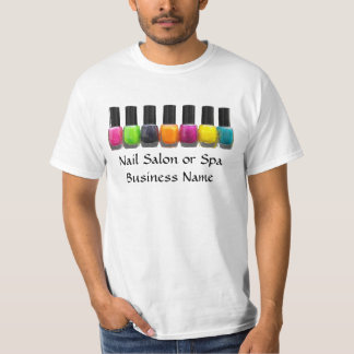 Nail Salon Business, Bright Polish Bottles T Shirt
