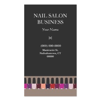 Nail Technician Business Cards - Business Cards Galore