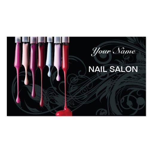 Nail Salon Business Card Design