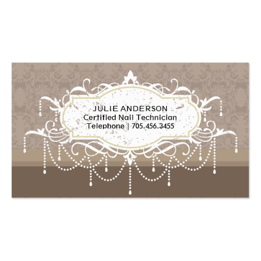 Nail Salon Business Card (back side)