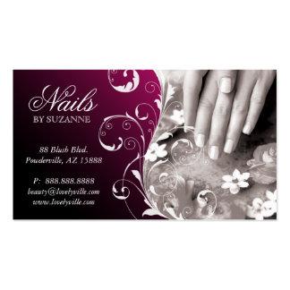 Nail Salon Business Card Blackberry Plum