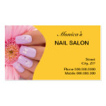 Nail Salon Business Card - choose your color Business Card Template