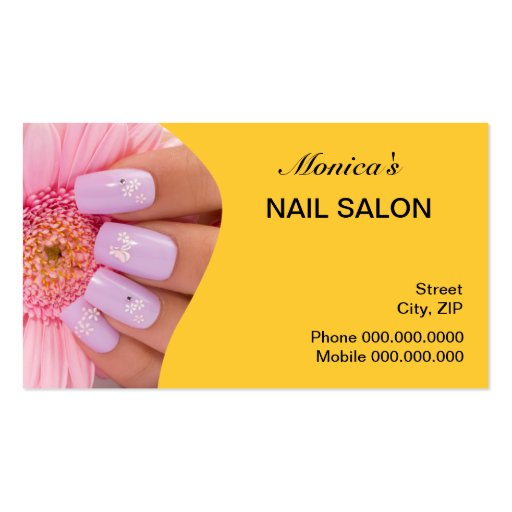 Nail salon business cards 3100 nail salon business card for Spa business card