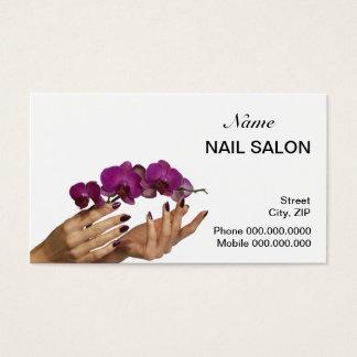 Nail Salon Business Card - choose your color