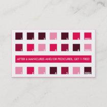 NAIL SALON customer appreciation (mod squares) Loyalty Card
