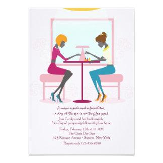 "Nail Salon Invitation 5"" X 7"" Invitation Card"