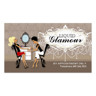Nail Salon Loyalty Cards Business Card