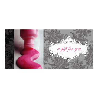 Nail Salon or Day Spa Gift Certificates Personalized Rack Card