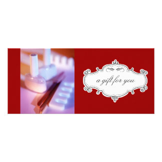 Nail Salon or Day Spa Gift Certificates Rack Card Template