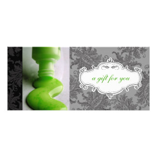 Nail Salon or Day Spa Gift Certificates Customized Rack Card