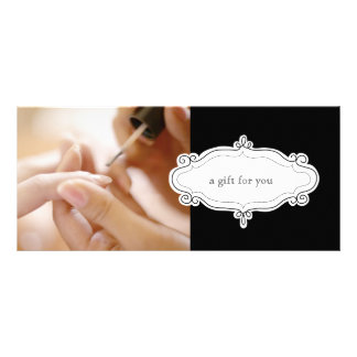 Nail Salon or Nail Studio Gift Certificates Personalized Rack Card