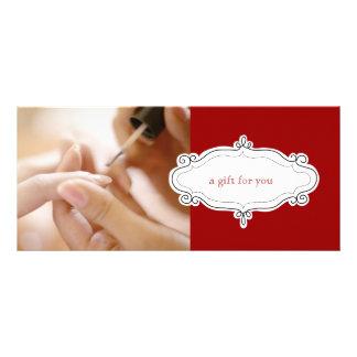 Nail Salon or Nail Studio Gift Certificates Custom Rack Cards