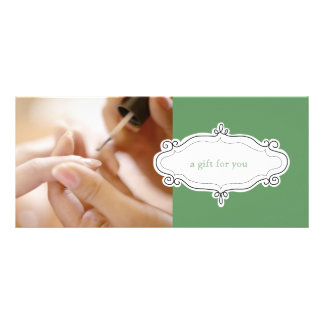 Nail Salon or Nail Studio Gift Certificates Rack Card Design