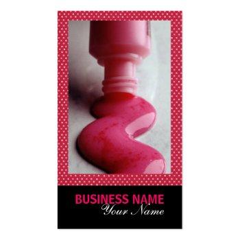 Nail Salon Business Card profilecard