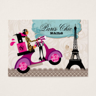 Nail Salon Polish Scooter Paris Eiffel Tower Business Card