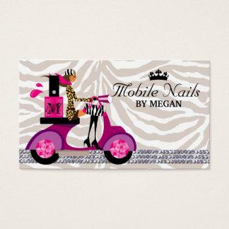 Nail Salon Scooter Girl Fashion Business Card