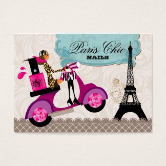 Nail Salon Scooter Paris Eiffel Tower Business Card