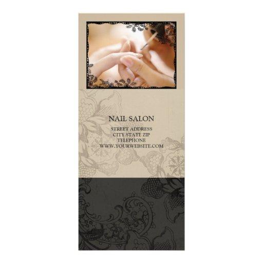 Nail salon services price list beige rack card zazzle - Slon beige ...