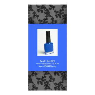 Nail Salon Services Price List {Blue} Full Color Rack Card