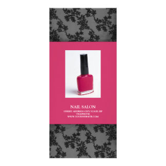 Nail Salon Services Price List {Hot Pink} Customized Rack Card