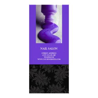 Nail Salon Services Price List {Purple} Custom Rack Cards