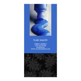 Nail Salon Services Price List {Royal Blue} Custom Rack Cards