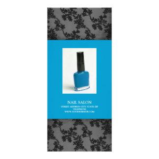 Nail Salon Services Price List {Teal Blue} Custom Rack Card