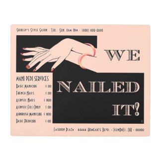 Nail Salon Services Sign - Art Deco - Personalized