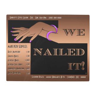 Nail Salon Sign-Brown-Art Deco-Personalized Metal Photo Print