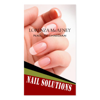 Nail Solutions - Manicure Pedicure Spa Technician Double-Sided Standard Business Cards (Pack Of 100)