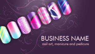 Nail Tech Business Cards Zazzle