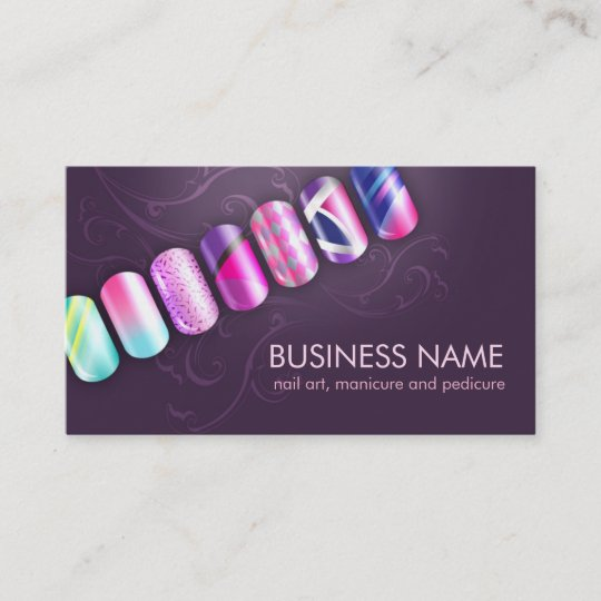Nail Tech Nail Art Business Card Template Zazzle