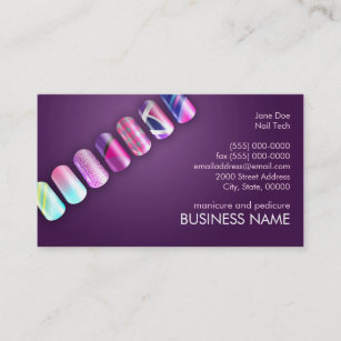 Nail tech business cards templates zazzle nail tech professionals business card template fbccfo Images