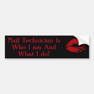 Nail tech sticker car bumper sticker