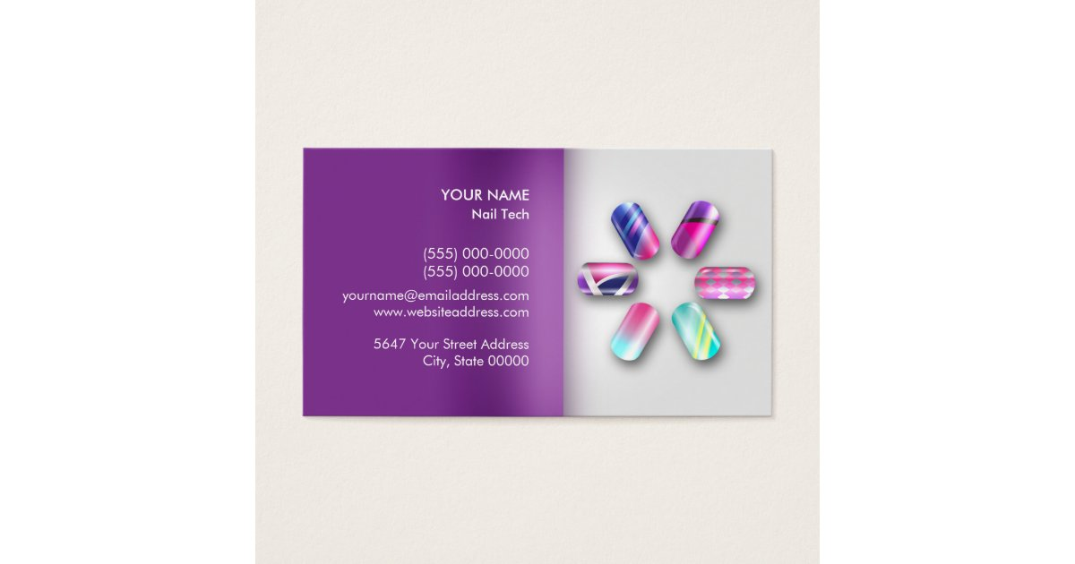 Nail Technician Appointment Business Card   Zazzle.com